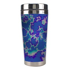 Unique Marbled Blue Stainless Steel Travel Tumblers by MoreColorsinLife