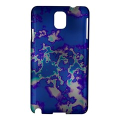 Unique Marbled Blue Samsung Galaxy Note 3 N9005 Hardshell Case by MoreColorsinLife