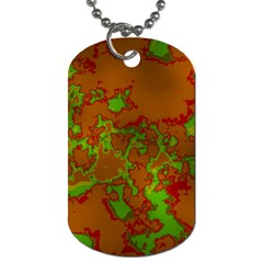 Unique Marbled Hot Dog Tag (two Sides) by MoreColorsinLife