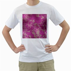 Unique Marbled Pink Men s T Shirt (white) (two Sided) by MoreColorsinLife