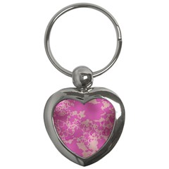 Unique Marbled Pink Key Chains (heart)  by MoreColorsinLife