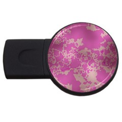 Unique Marbled Pink Usb Flash Drive Round (2 Gb)  by MoreColorsinLife
