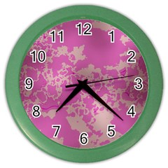 Unique Marbled Pink Color Wall Clocks by MoreColorsinLife
