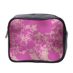 Unique Marbled Pink Mini Toiletries Bag 2 Side by MoreColorsinLife