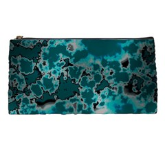 Unique Marbled Teal Pencil Cases by MoreColorsinLife