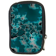 Unique Marbled Teal Compact Camera Cases by MoreColorsinLife