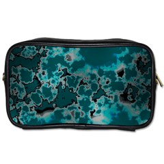 Unique Marbled Teal Toiletries Bags by MoreColorsinLife