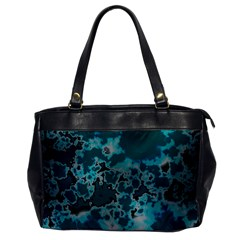 Unique Marbled Teal Office Handbags by MoreColorsinLife