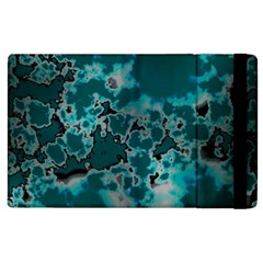 Unique Marbled Teal Apple Ipad 3/4 Flip Case by MoreColorsinLife