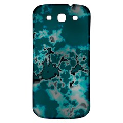 Unique Marbled Teal Samsung Galaxy S3 S Iii Classic Hardshell Back Case by MoreColorsinLife