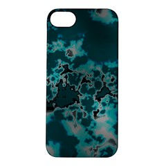 Unique Marbled Teal Apple Iphone 5s Hardshell Case by MoreColorsinLife