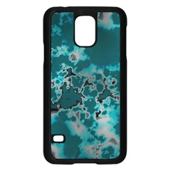 Unique Marbled Teal Samsung Galaxy S5 Case (Black) by MoreColorsinLife