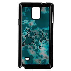 Unique Marbled Teal Samsung Galaxy Note 4 Case (black) by MoreColorsinLife