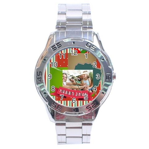 Xmas By Joy   Stainless Steel Analogue Watch   Zrrx6ocr9os6   Www Artscow Com Front