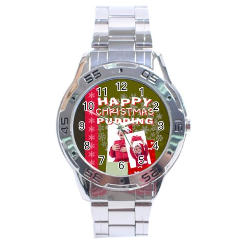 Xmas By Joy   Stainless Steel Analogue Watch   Sjju37jzn8ae   Www Artscow Com Front