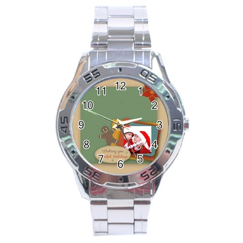 Xmas By Joy   Stainless Steel Analogue Watch   Fmiehu5qsmvf   Www Artscow Com Front