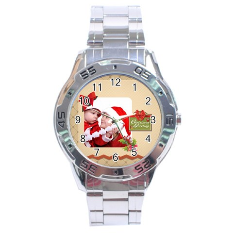 Xmas By Joy   Stainless Steel Analogue Watch   E77gd7ai2mgg   Www Artscow Com Front