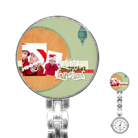 Xmas By Joy   Stainless Steel Nurses Watch   Slkxqz9gdy08   Www Artscow Com Front