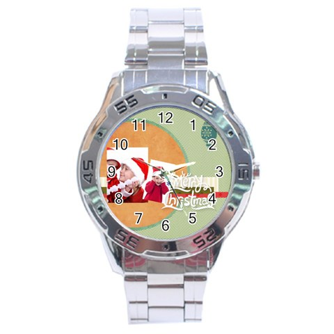 Xmas By Joy   Stainless Steel Analogue Watch   R9lj8u1qo5ua   Www Artscow Com Front