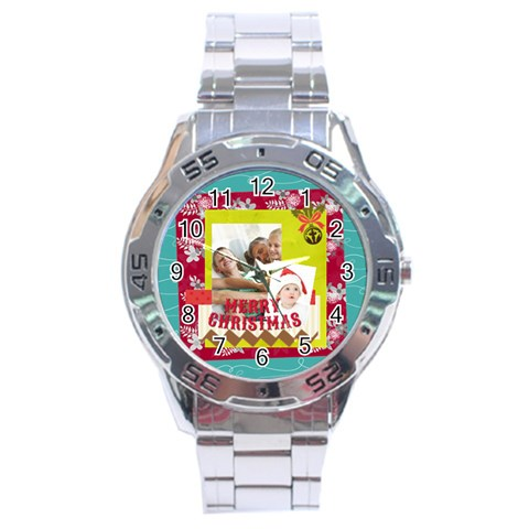 Xmas By Joy   Stainless Steel Analogue Watch   7prr5r119pav   Www Artscow Com Front
