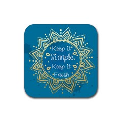 Keep Simple Drink Coaster (square) by walala
