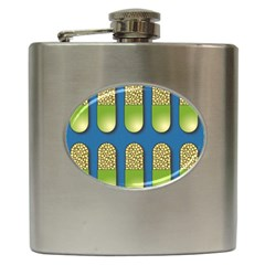 Capsule Pattern Hip Flask (6 oz) by theimagezone