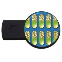 Capsule Pattern Usb Flash Drive Round (2 Gb)  by theimagezone