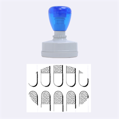 Capsule Pattern Rubber Oval Stamps by theimagezone