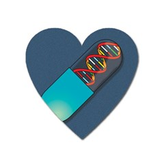 Dna Capsule Heart Magnet by theimagezone