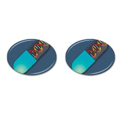 Dna Capsule Cufflinks (oval) by theimagezone