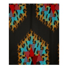 Blue, Gold, And Red Pattern Shower Curtain 60  X 72  (medium)  by theunrulyartist