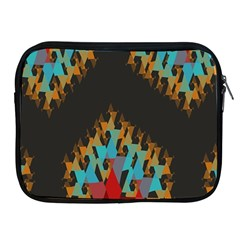 Blue, Gold, And Red Pattern Apple Ipad 2/3/4 Zipper Cases by theunrulyartist