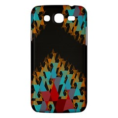 Blue, Gold, And Red Pattern Samsung Galaxy Mega 5 8 I9152 Hardshell Case  by theunrulyartist