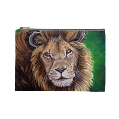 Lion Cosmetic Bag (large)  by ArtByThree