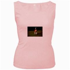 Beagle Walking Women s Pink Tank Tops by TailWags