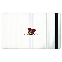 Red Tri Peeping  Aussie Dog Apple iPad 3/4 Flip Case by TailWags