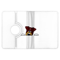 Red Tri Peeping  Aussie Dog Kindle Fire HDX Flip 360 Case by TailWags