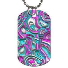 Art Deco Candy Dog Tag (two Sides) by MoreColorsinLife
