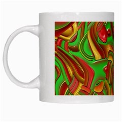 Art Deco Red Green White Mugs by MoreColorsinLife