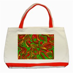Art Deco Red Green Classic Tote Bag (red)  by MoreColorsinLife