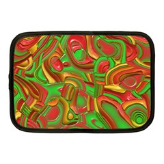 Art Deco Red Green Netbook Case (medium)  by MoreColorsinLife