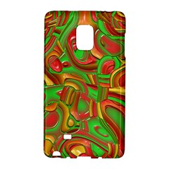 Art Deco Red Green Galaxy Note Edge by MoreColorsinLife