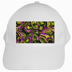 Art Deco Yellow Green White Cap by MoreColorsinLife