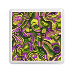 Art Deco Yellow Green Memory Card Reader (square)  by MoreColorsinLife