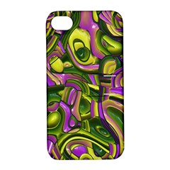 Art Deco Yellow Green Apple Iphone 4/4s Hardshell Case With Stand by MoreColorsinLife