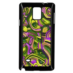Art Deco Yellow Green Samsung Galaxy Note 4 Case (Black) by MoreColorsinLife