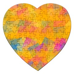 Fading Squares Jigsaw Puzzle (heart) by LalyLauraFLM