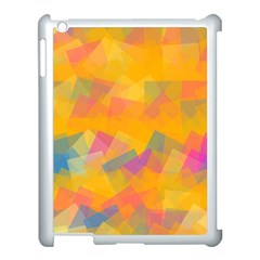 Fading Squares Apple Ipad 3/4 Case (white) by LalyLauraFLM