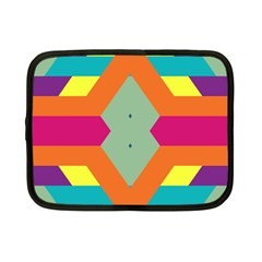 Colorful Rhombus And Stripes Netbook Case (small) by LalyLauraFLM