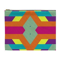 Colorful Rhombus And Stripes Cosmetic Bag (xl) by LalyLauraFLM